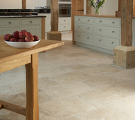 Tumbled Aspendos Travertine Dining Area