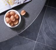 Basaltite Work Surface with Mountain Black Slate Floor