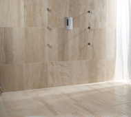 Rapolano Cream Travertine Wet Room