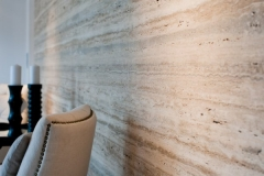 Vein Cut Silver Walnut travertine detail